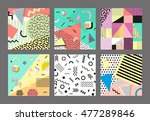 retro vintage 80s or 90s... | Shutterstock .eps vector #477289846