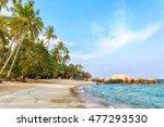 empty morning samui beach with... | Shutterstock . vector #477293530