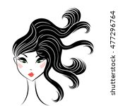 face glamorous girl with... | Shutterstock .eps vector #477296764