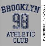varsity t shirt graphic  vector ... | Shutterstock .eps vector #477297178