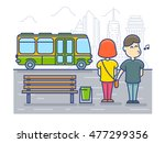 pickpocket steals money cash... | Shutterstock .eps vector #477299356