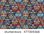 boho seamless pattern from... | Shutterstock .eps vector #477305368