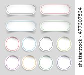 empty label stickers set | Shutterstock .eps vector #477307534