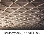 roof. metal roof structure of... | Shutterstock . vector #477311158