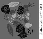 transparent pattern of autumn... | Shutterstock .eps vector #477312394