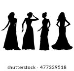 dresses.woman in dress... | Shutterstock .eps vector #477329518