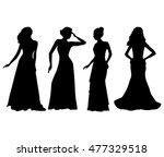 women in dress silhouettes...