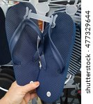 beach sneakers. | Shutterstock . vector #477329644