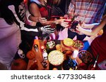 high angle view at halloween... | Shutterstock . vector #477330484