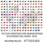 191 all world flag countries... | Shutterstock .eps vector #477331303