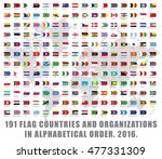 191 all world flag countries... | Shutterstock .eps vector #477331309