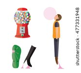 bubble gum machine  stretched... | Shutterstock .eps vector #477331948