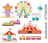 set of amusement park elements... | Shutterstock . vector #477332206