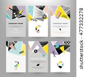 abstract elements cards | Shutterstock .eps vector #477332278