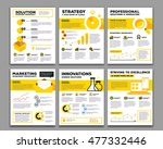 vector set of corporate... | Shutterstock .eps vector #477332446