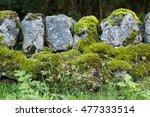Blue Gray Rock Dry Stone Wall ...