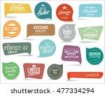 retro vintage premium quality... | Shutterstock .eps vector #477334294