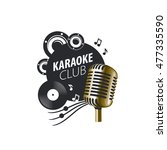 vector logo karaoke   Shutterstock .eps vector #477335590