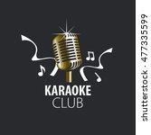 vector logo karaoke | Shutterstock .eps vector #477335599
