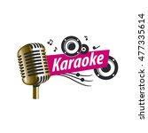 vector logo karaoke   Shutterstock .eps vector #477335614