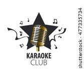 vector logo karaoke | Shutterstock .eps vector #477335734