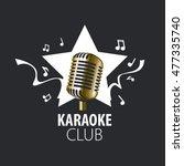 vector logo karaoke | Shutterstock .eps vector #477335740