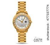 watch gold diamonds design on...   Shutterstock .eps vector #477337774