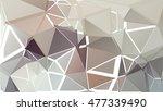 randomly scattered triangles of ... | Shutterstock .eps vector #477339490