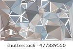 randomly scattered triangles of ... | Shutterstock .eps vector #477339550