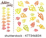 autumnal discount. vector fall... | Shutterstock .eps vector #477346834