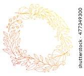 the wreath of fallen leaves.... | Shutterstock .eps vector #477349300
