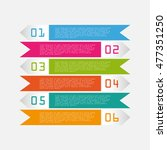 modern info graphic options... | Shutterstock .eps vector #477351250