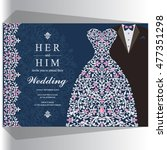wedding invitation or card with ... | Shutterstock .eps vector #477351298