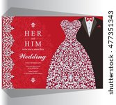 wedding invitation or card with ...   Shutterstock .eps vector #477351343