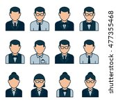 user profile icon set. people... | Shutterstock .eps vector #477355468