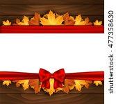 border of autumn maples leaves. ... | Shutterstock .eps vector #477358630
