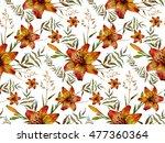 watercolor boho chic design... | Shutterstock . vector #477360364