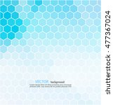 Blue Hexagon Abstract Background