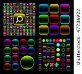 web buttons for design. vector... | Shutterstock .eps vector #47736922