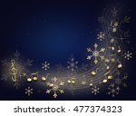 dark blue background with shiny ... | Shutterstock . vector #477374323