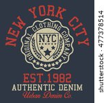 new york city sport typography  ...   Shutterstock .eps vector #477378514