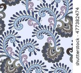 seamless pattern with ornament... | Shutterstock .eps vector #477382474