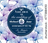 wedding invitation card design  ... | Shutterstock .eps vector #477388450