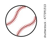 baseball graphic | Shutterstock . vector #477391513