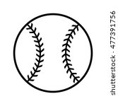 baseball graphic | Shutterstock . vector #477391756