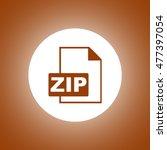 zip icon. concept illustration...