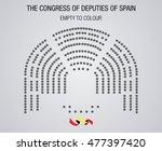 the congress of deputies of... | Shutterstock .eps vector #477397420