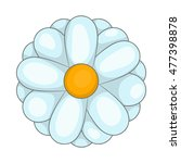 daisy icon in cartoon style... | Shutterstock .eps vector #477398878
