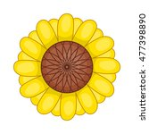 flower icon in cartoon style... | Shutterstock .eps vector #477398890