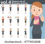 diverse set of business woman... | Shutterstock .eps vector #477401848